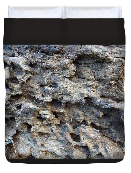 Duvet Cover featuring the photograph Tree Bark 1 by Jean Bernard Roussilhe