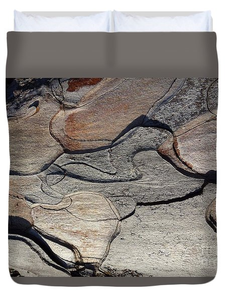Duvet Cover featuring the photograph Tree Bark 2 by Jean Bernard Roussilhe