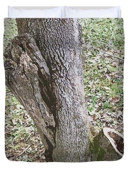 Tree Bark Duvet Cover