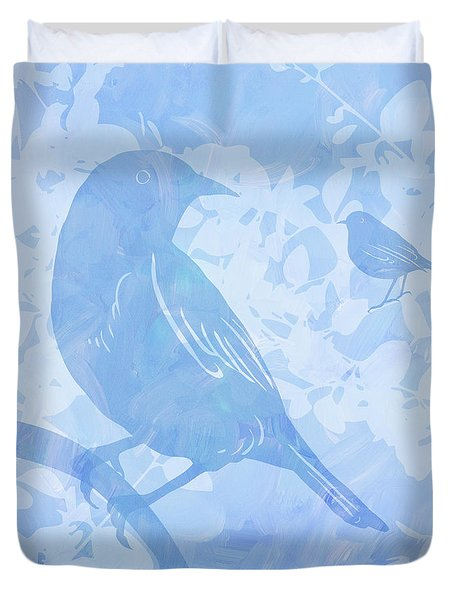 Tree Birds I Duvet Cover