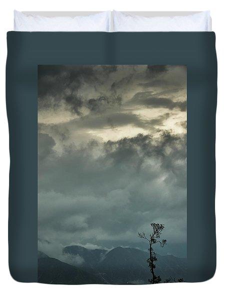 Tree. Bright Light Duvet Cover by Rajiv Chopra