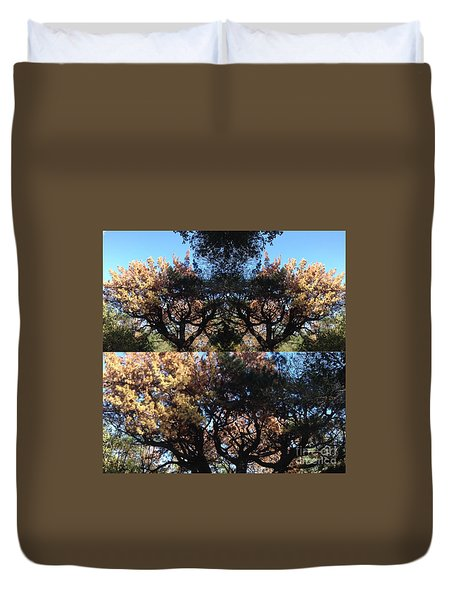 Duvet Cover featuring the photograph Tree Chandelier by Nora Boghossian