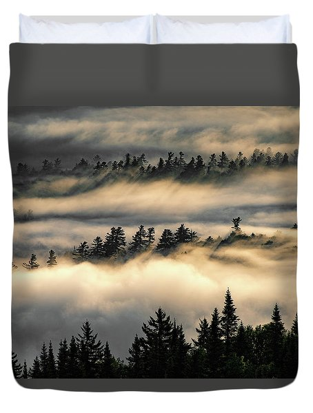 Trees In The Clouds Duvet Cover