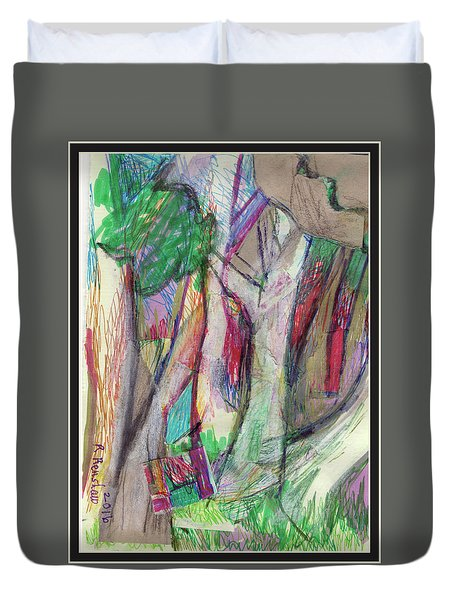 Tree Collage Duvet Cover by Ruth Renshaw