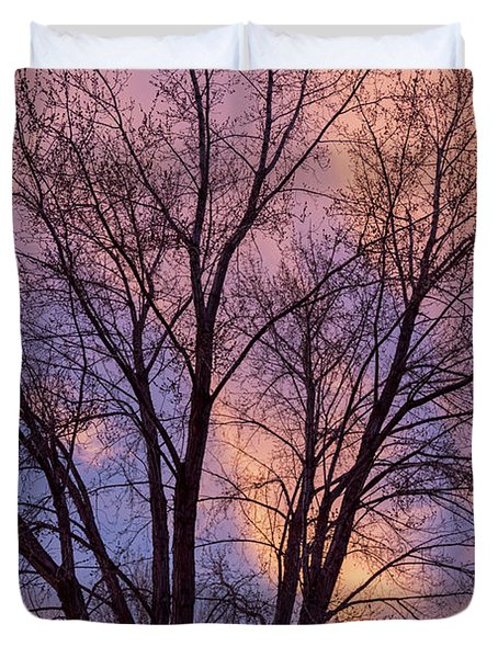Tree Colors Of The Night Duvet Cover