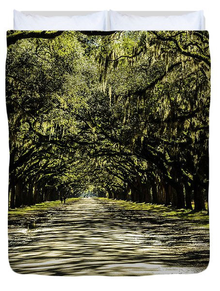 Tree Covered Approach Duvet Cover