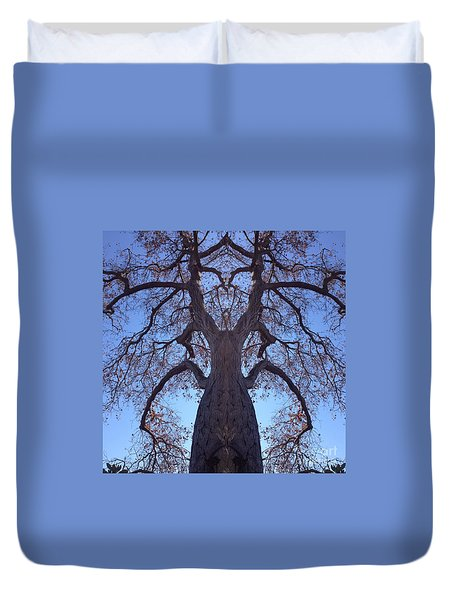 Duvet Cover featuring the photograph Tree Creature by Nora Boghossian