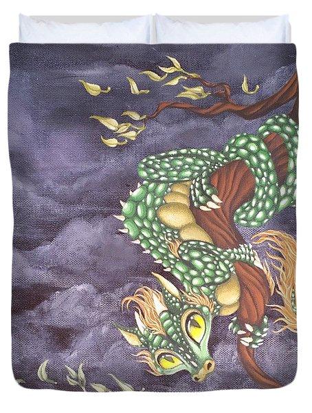 Tree Dragon Duvet Cover