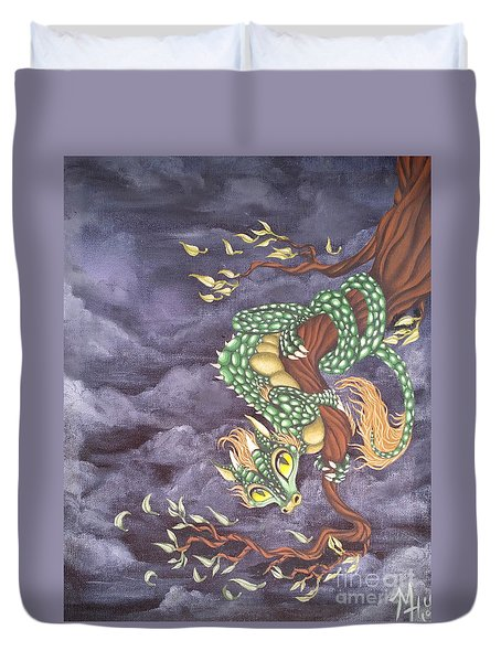 Tree Dragon Duvet Cover