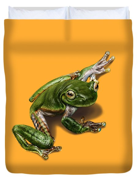 Tree Frog  Duvet Cover by Owen Bell