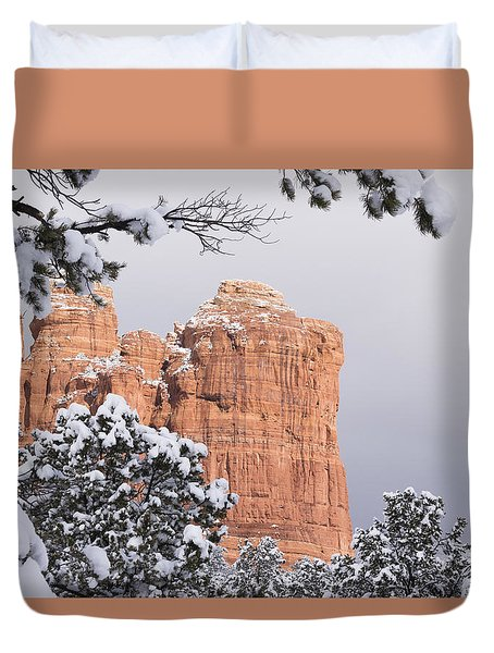 Tree Hanging Over Coffee Pot Duvet Cover by Laura Pratt