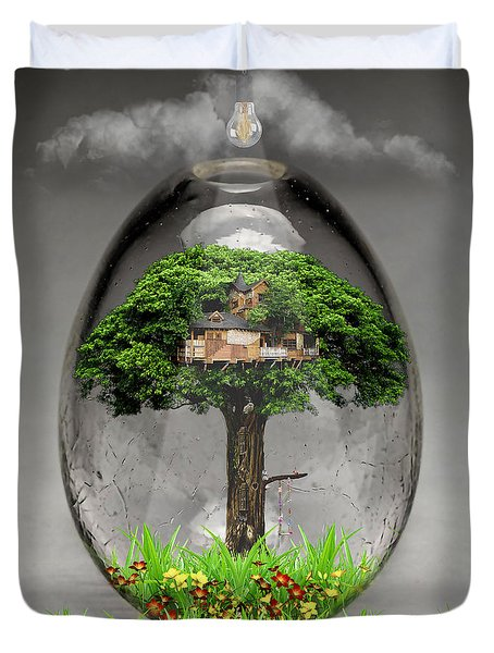 Tree House Art Duvet Cover