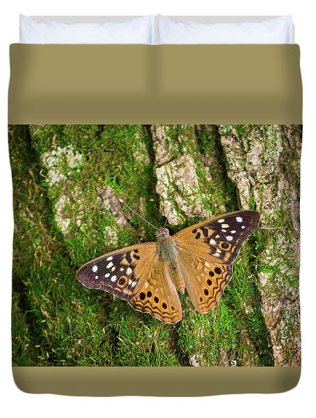 Duvet Cover featuring the photograph Tree Hugger by Bill Pevlor