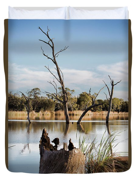 Tree Image Duvet Cover by Douglas Barnard
