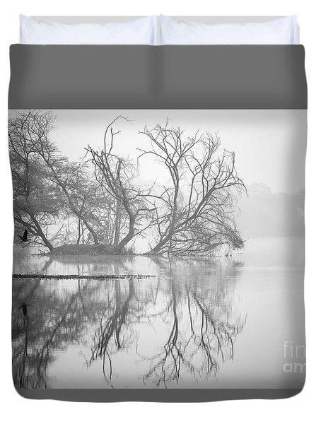 Tree In A Lake Duvet Cover