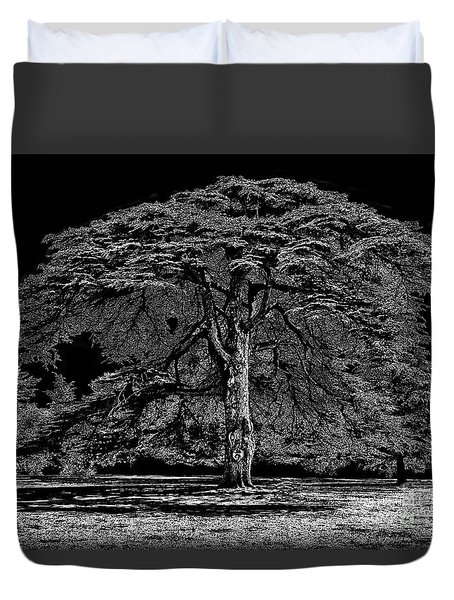 Tree In England Duvet Cover