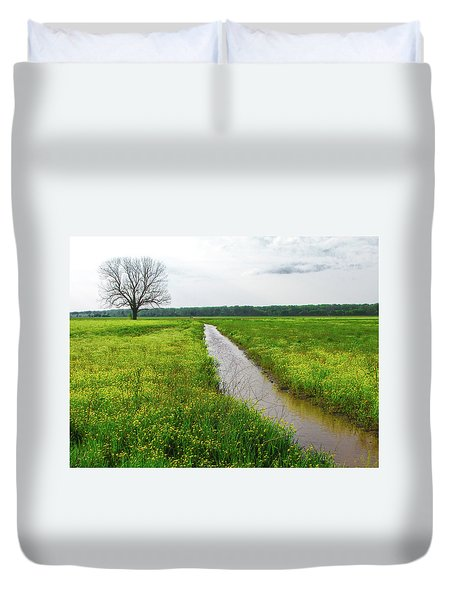 Tree In Field 2 Duvet Cover