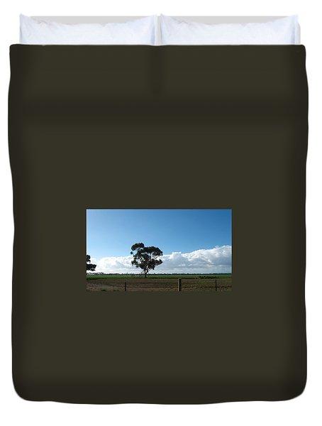 Tree In Field Duvet Cover