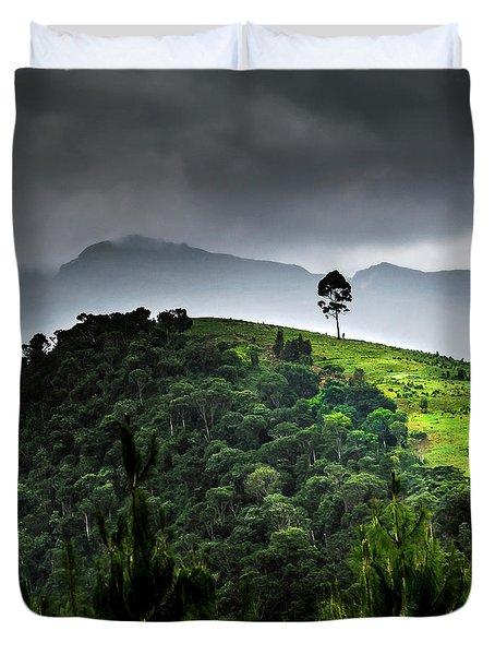 Tree In Kilimanjaro Duvet Cover