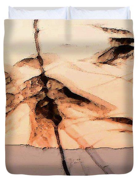 Tree In Morning Duvet Cover