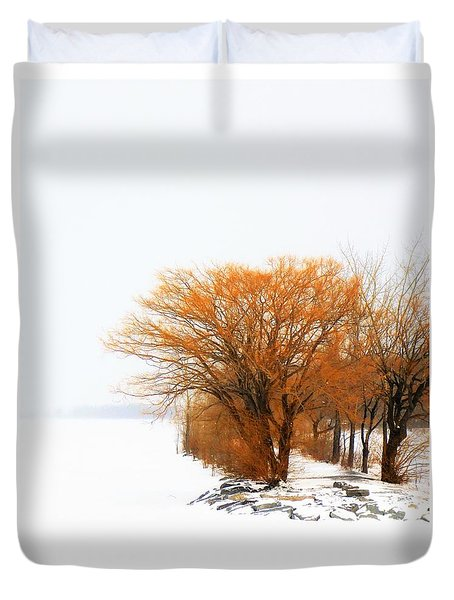Tree In The Winter Duvet Cover