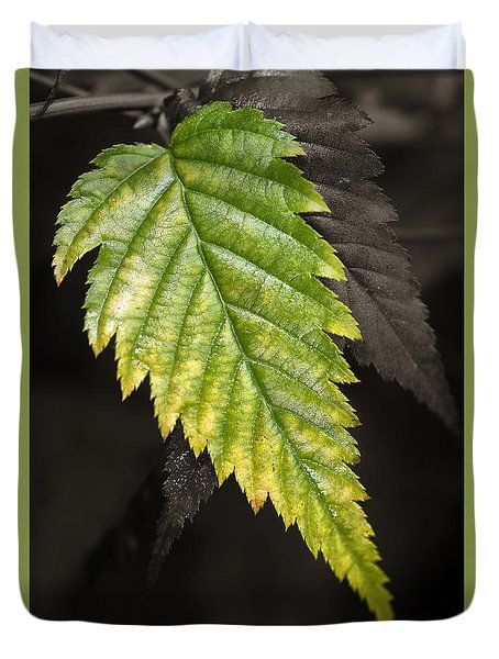 Tree Leaf Study  Duvet Cover