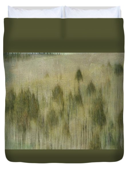 Tree Line Duvet Cover by Carolyn Dalessandro