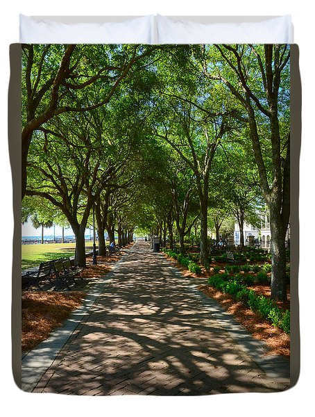 Tree Lined Path Duvet Cover