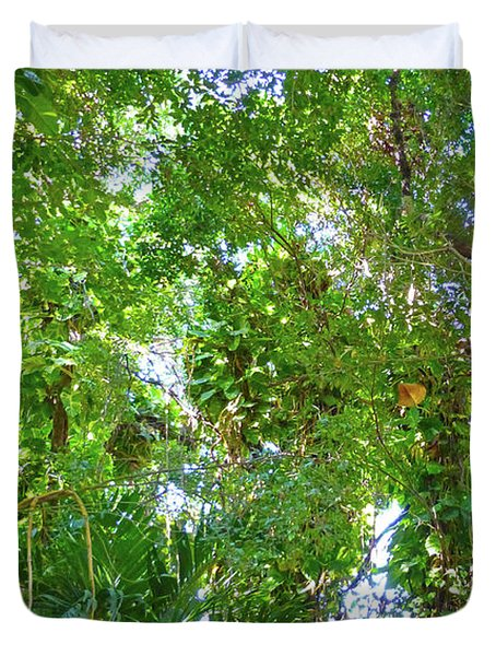 Duvet Cover featuring the photograph Tree M2 by Francesca Mackenney