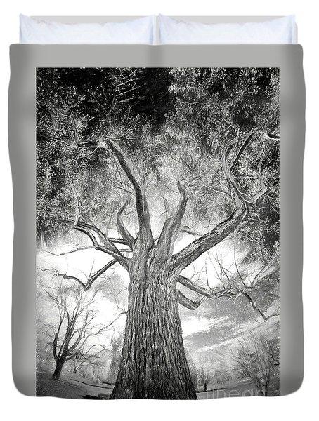 Tree Monster Bw Ap Duvet Cover