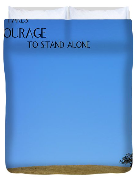 Tree Of Courage Duvet Cover