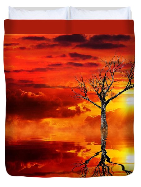 Tree Of Destruction Duvet Cover