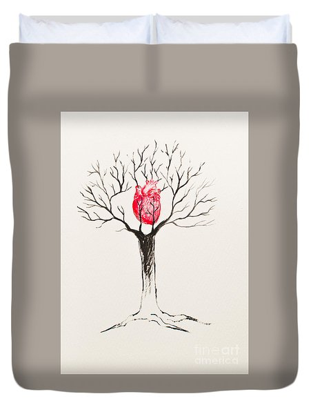 Tree Of Hearts Duvet Cover
