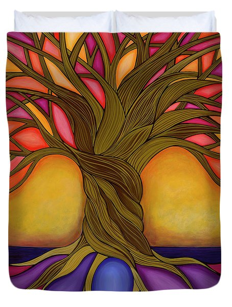 Duvet Cover featuring the painting Tree Of Life by Carla Bank