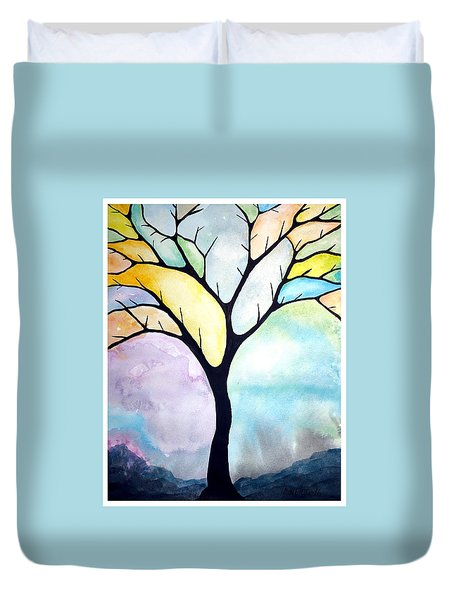 Tree Of Life Duvet Cover by Edwin Alverio