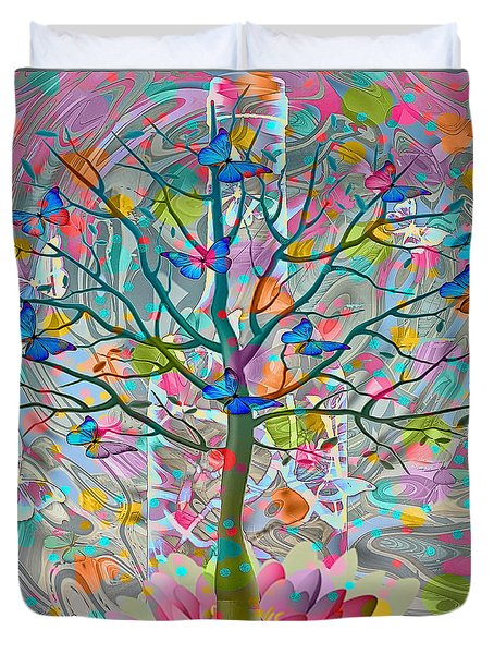 Duvet Cover featuring the digital art Tree Of Life by Eleni Mac Synodinos