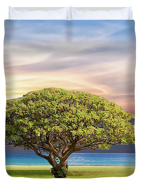 Duvet Cover featuring the painting Tree Of Life by Harry Warrick
