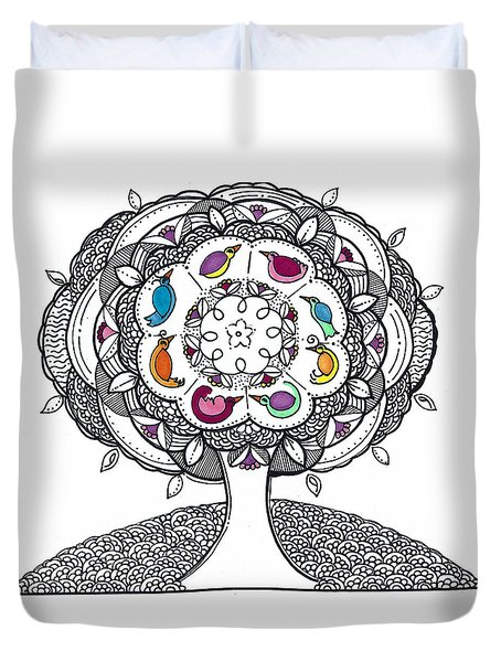 Tree Of Life - Ink Drawing Duvet Cover