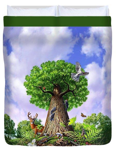 Tree Of Life Duvet Cover by Jerry LoFaro
