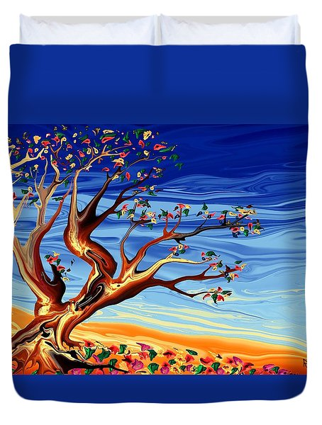 Tree Of Life Duvet Cover by Robin Monroe