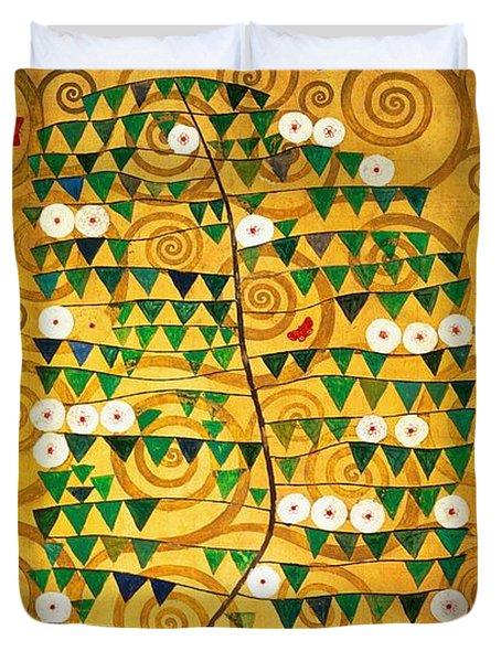 Tree Of Life Stoclet Frieze Duvet Cover by Gustav Klimt