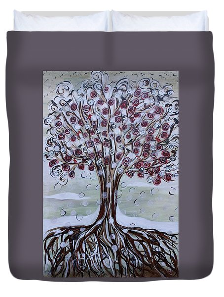 Tree Of Life - Winter Duvet Cover