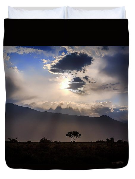 Duvet Cover featuring the photograph Tree Of Light by Cat Connor