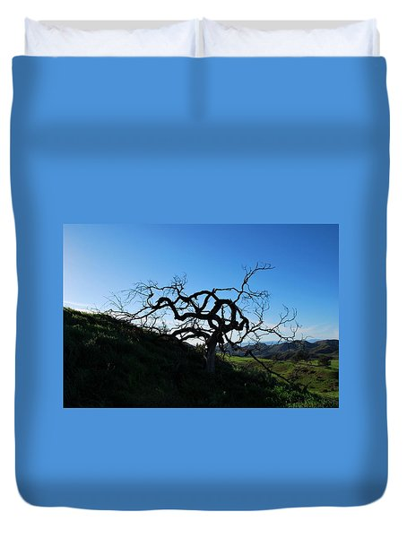 Duvet Cover featuring the photograph Tree Of Light - Landscape by Matt Harang