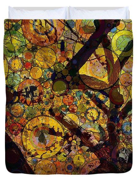 Duvet Cover featuring the digital art Tree Of Prosperity by Klara Acel