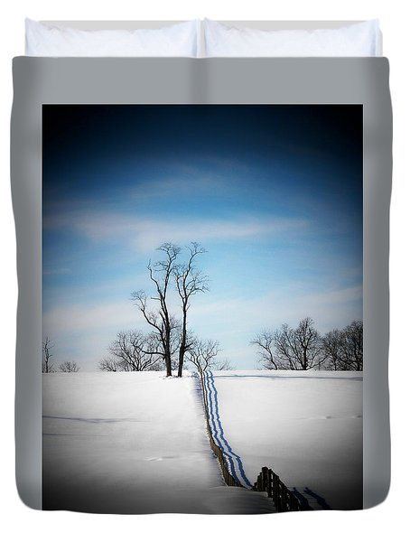 Tree On A Hill Duvet Cover by Joyce Kimble Smith