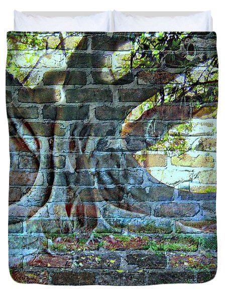 Tree On A Wall Duvet Cover