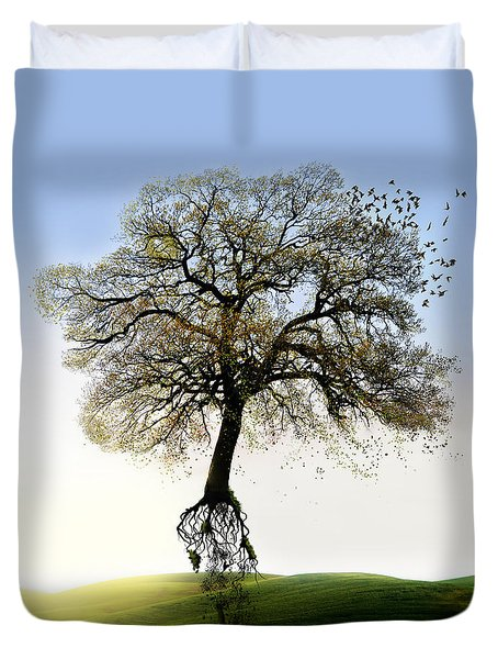Tree On The Move Duvet Cover
