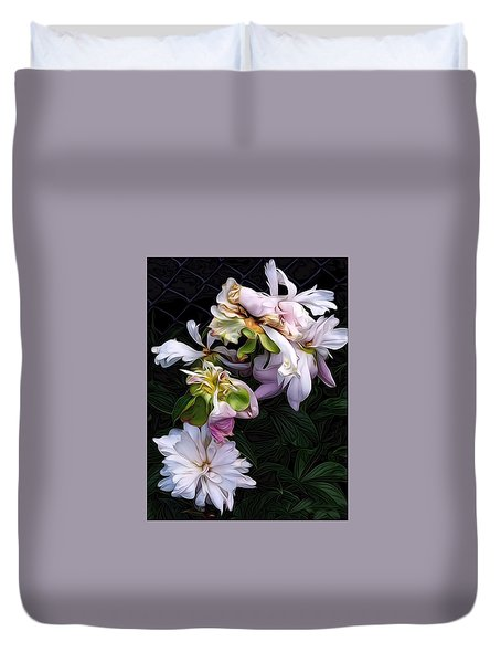 Tree Peony Duvet Cover by Alexis Rotella