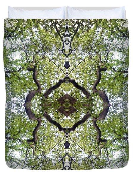 Tree Photo Fractal Duvet Cover